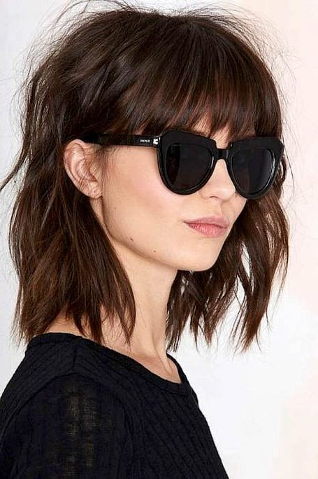 70 Stylish Bob And Lob Haircuts For You To Copy - The Trend throughout Shaggy Lob Hairstyles With Bangs