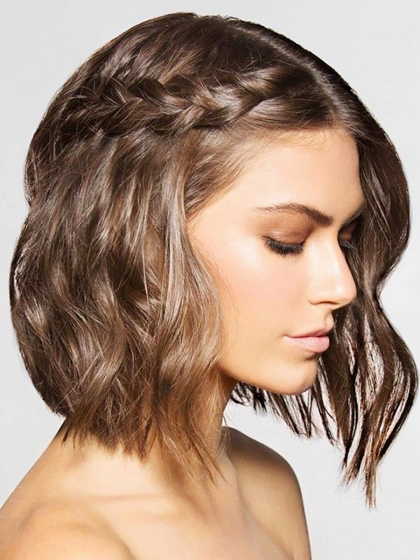 73 Stunning Braids For Short Hair That You Will Love Throughout Pretty Short Bob Haircuts With Braid (View 15 of 25)