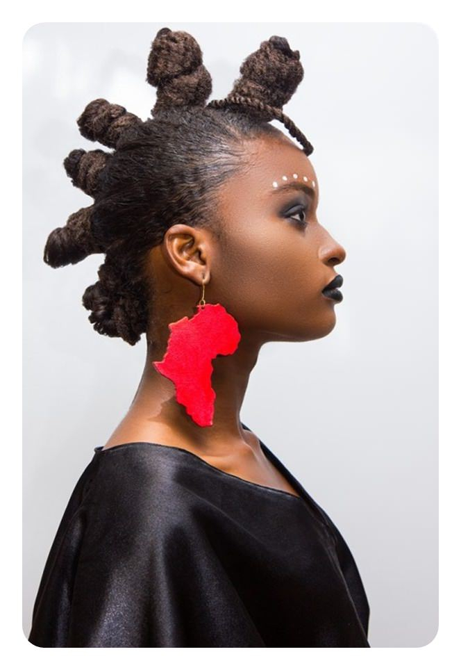 74 Cool Bantu Knots Hairstyles With How To Tutorials within Braided Bantu Knots Mohawk Hairstyles