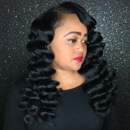 74 Outstanding Finger Waves Hairstyle Mostly Preferred pertaining to Simple Loose Black Waves Hairstyles
