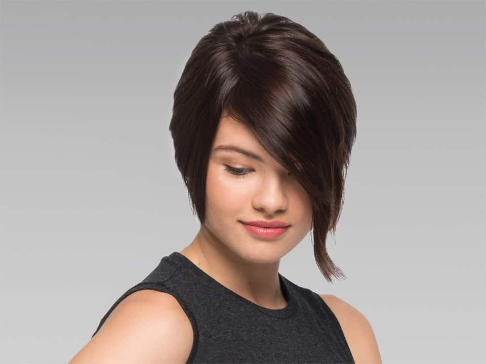 8 A-Line Bob Hairstyles With Bangs For Flattering Looks for Pink Asymmetrical A-Line Bob Hairstyles