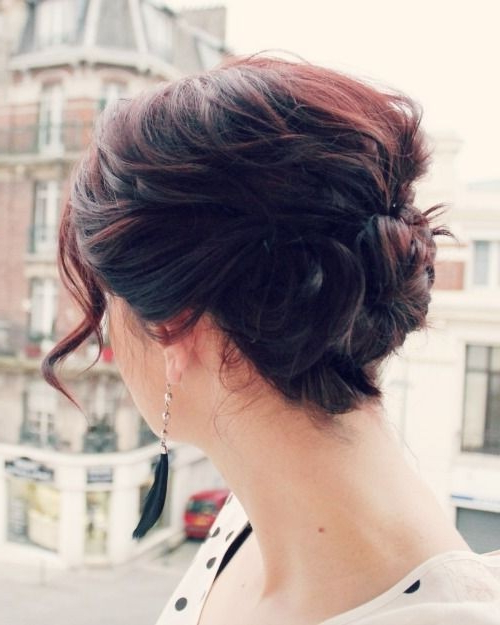 8 Cute Updo Hairstyles For Short Hair - Popular Haircuts inside Cute Bob Hairstyles With Bun