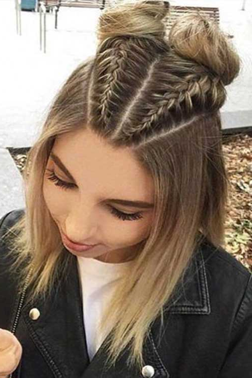 80 Best Braids For Short Hair – Short Hairstyless Throughout Pretty Short Bob Haircuts With Braid (View 7 of 25)