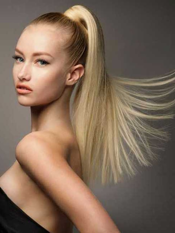 80 Lovely Women Ponytail Hairstyles For Long Hair for High Long Ponytail Hairstyles With Hair Wrap