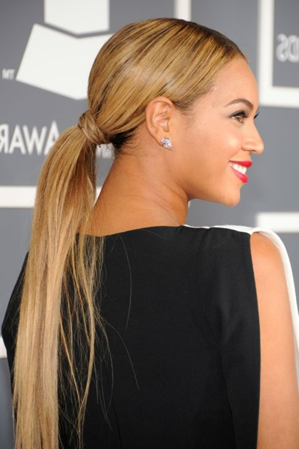 80 Lovely Women Ponytail Hairstyles For Long Hair With High Long Ponytail Hairstyles With Hair Wrap (View 23 of 25)