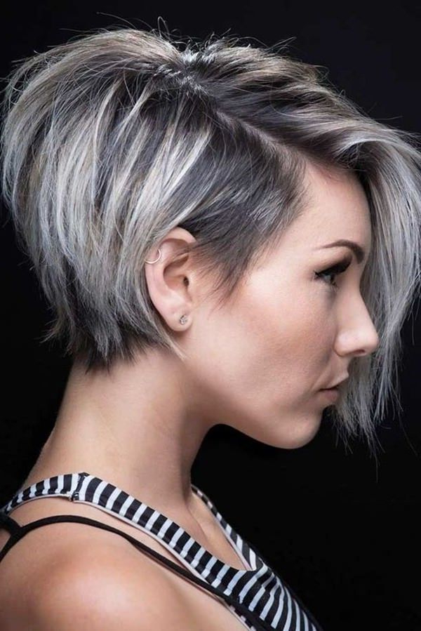 85 Stunning Pixie Style Bob's That Will Brighten Your Day regarding Very Short Stacked Bob Hairstyles With Messy Finish