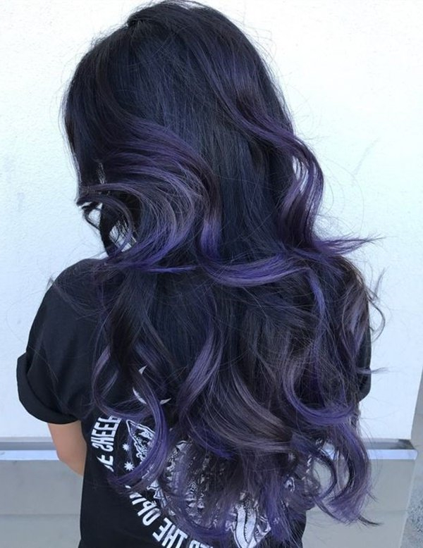 87 Great Blue Black Hair Ideas For You – Style Easily Regarding Black And Denim Blue Waves Hairstyles (View 14 of 25)