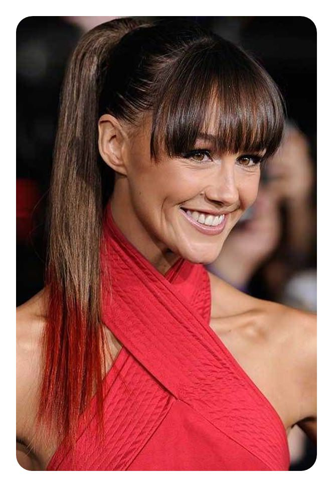 Featured Photo of Tight High Ponytail Hairstyles With Fringes