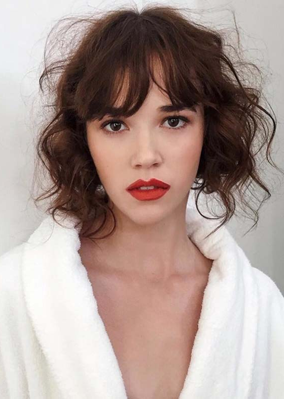 Alluring Loose Curls For Short Haircuts In 2018 | Modeshack With Pixie Haircuts With Bangs And Loose Curls (View 16 of 25)