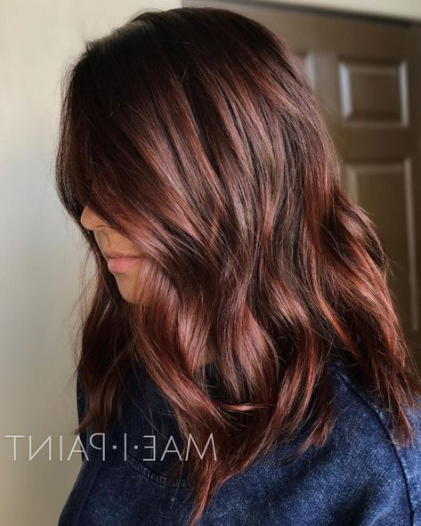 Auburn Hair #26: Cinnamon Sheen For Medium Hair In 2019 Inside Long Layered Hairstyles With Added Sheen (View 21 of 25)