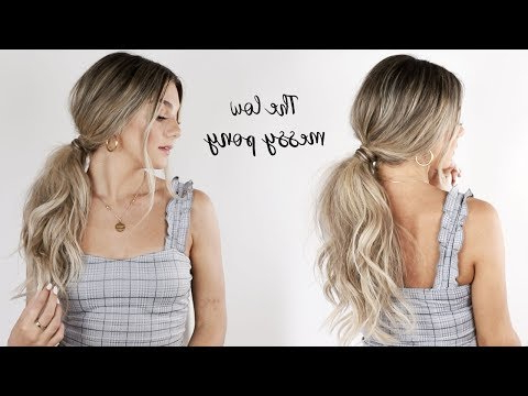 Aveda How To | Messy Low Ponytail Tutorial With Jessica With Messy Voluminous Ponytail Hairstyles With Textured Bangs (View 22 of 25)