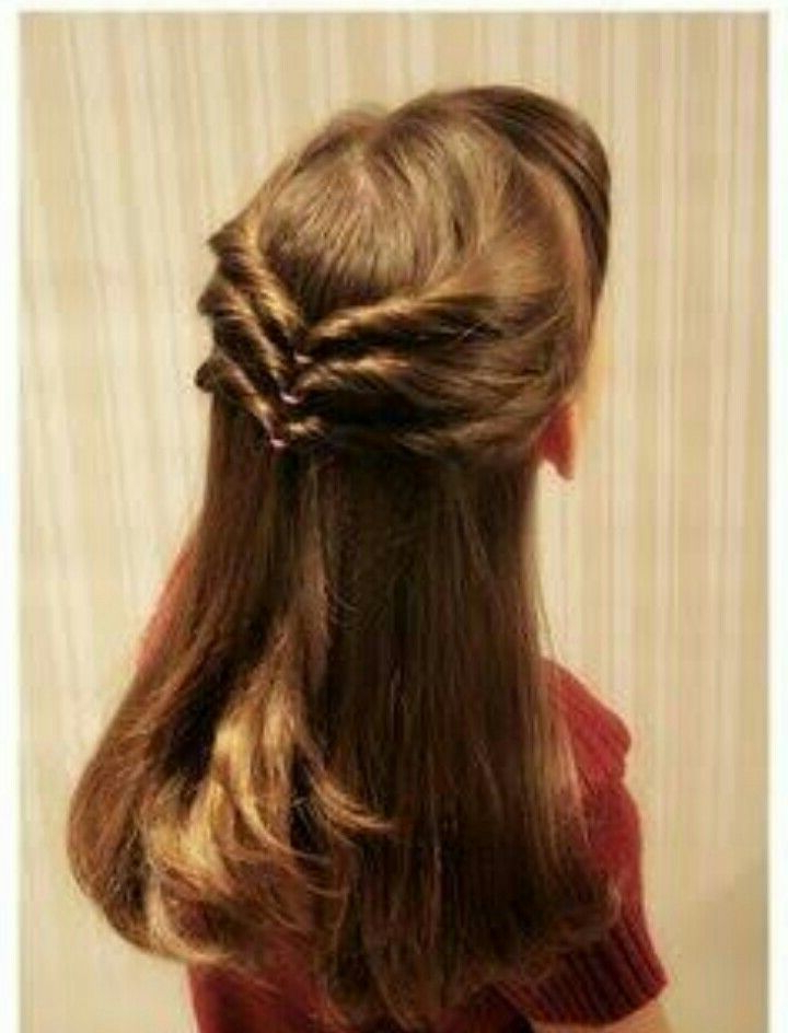 Back Twist And Turn Open Hair Hairstyle With Side Fringes Regarding Turned And Twisted Pigtails Hairstyles With Front Fringes (View 19 of 25)