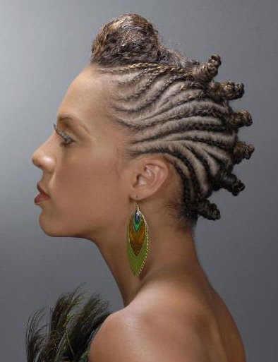 Bantu Mohawk – Going Natural With Braided Bantu Knots Mohawk Hairstyles (View 18 of 25)