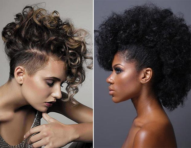 Best Mohawk And Fauxhawk Hairstyles For Women   Fashionisers© Inside Long Curly Mohawk Haircuts With Fauxhawk (View 9 of 25)