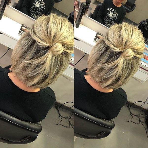 Best New Bob Hairstyles 2019 | Messy Short Hair, Medium Hair For Cute Bob Hairstyles With Bun (View 14 of 25)