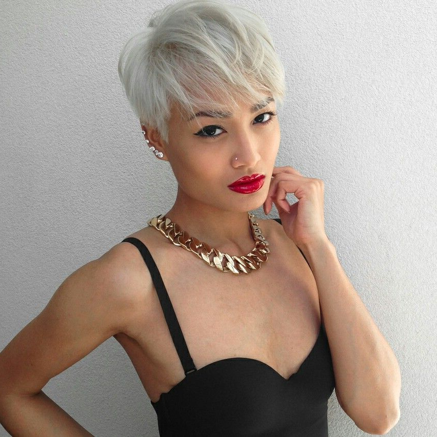 Blonde Asian Pixie … | Cool Short Hairstyles, Asian Hair Inside Bold Asian Pixie Haircuts (View 5 of 25)