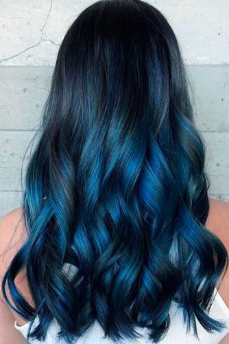 Blue Hairstyles For Women: Blue Hair Ideas 2019 | Ladylife Intended For Black And Denim Blue Waves Hairstyles (View 6 of 25)