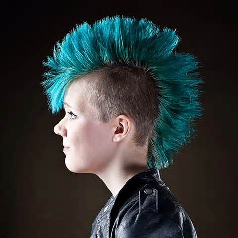 Featured Photo of Blue Hair Mohawk Hairstyles