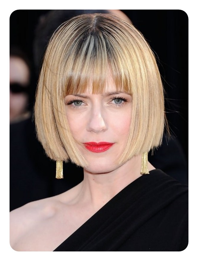 Blunt Cut Bob – Rock Your Edge With 100+ Haircuts To Choose From Regarding Blonde Blunt Haircuts Bob With Bangs (View 19 of 25)