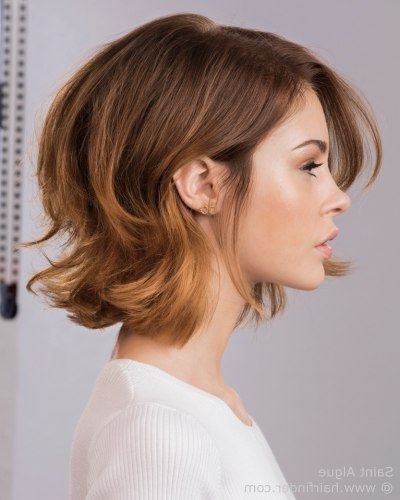 Bob With Flipped Layers In 2019 | Hot Hair Styles, Medium In Layered And Outward Feathered Bob Hairstyles With Bangs (View 2 of 25)