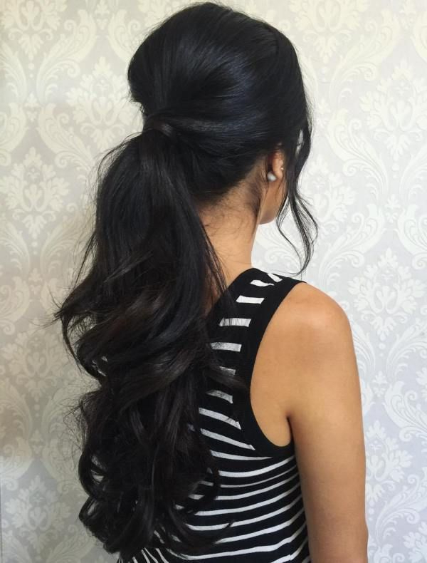 Bouffant Ponytail For Long Hair In 2019 | Hair Ponytail With High Long Ponytail Hairstyles With Hair Wrap (View 3 of 25)