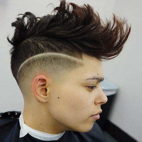 Boys Long Undercut In 2019 | Mohawk Hairstyles, Cool In Long Luscious Mohawk Haircuts For Curly Hair (View 2 of 25)