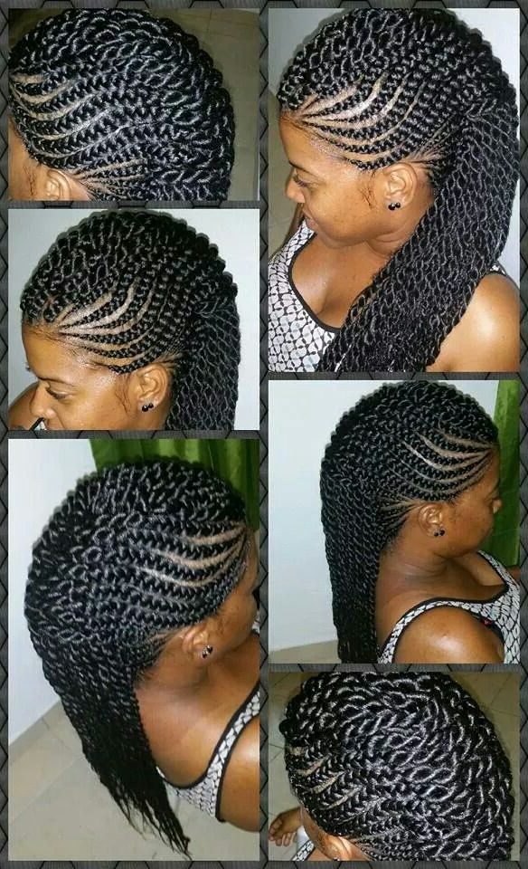 Braid And Twists Mohawk In 2019 | Natural Hair Styles, Long In Twisted Braids Mohawk Hairstyles (View 8 of 25)