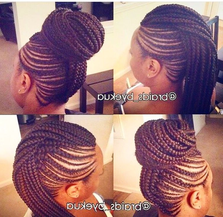 Featured Photo of Braided Mohawk Bun Hairstyles