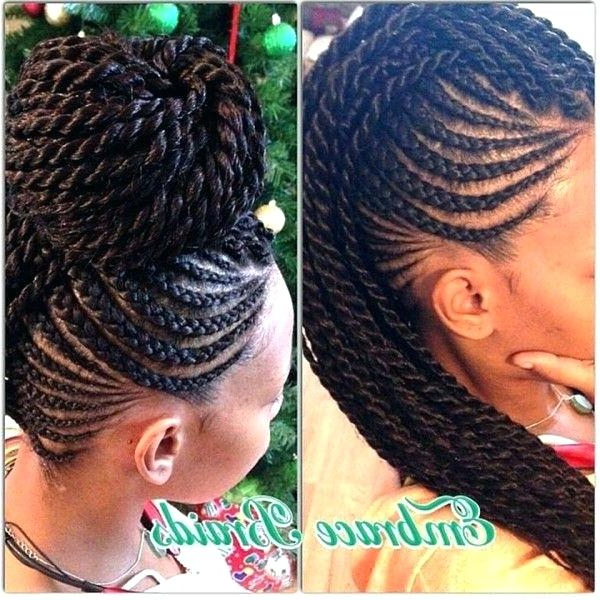 Braided Mohawk Hairstyles For Natural Hair In Box Braids Mohawk Hairstyles (View 24 of 25)