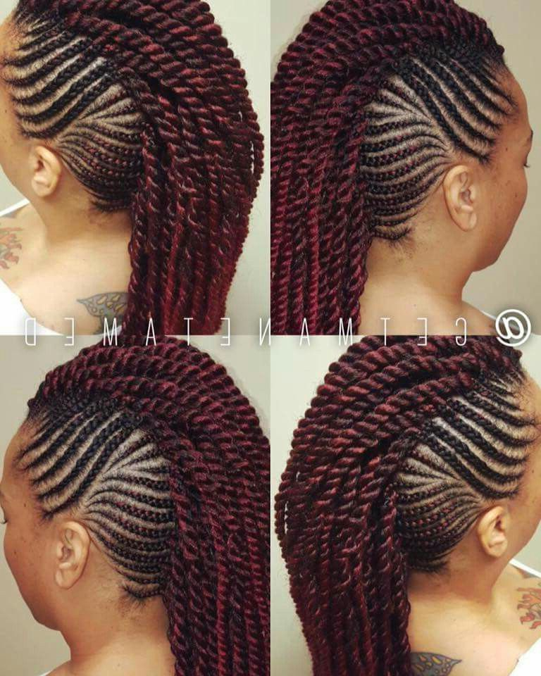 Featured Photo of Twisted Braids Mohawk Hairstyles