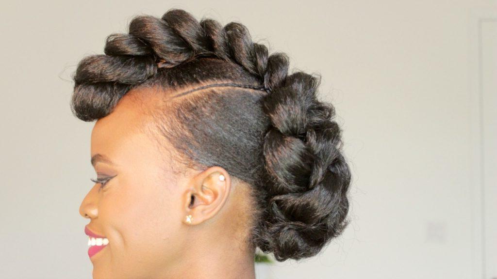 Braided Mohawk Style Updo – Black Hair Information Regarding Braided Mohawk Bun Hairstyles (View 4 of 25)