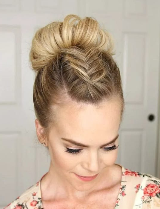 Braided Mohawk Updo: 8 Looks To Get A Wow Effect For Braided Mohawk Bun Hairstyles (View 7 of 25)