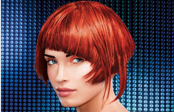 Bright Red Bob Hairstyle Funky Bangs Picture | Sophie With Bright Bob Hairstyles (View 16 of 25)