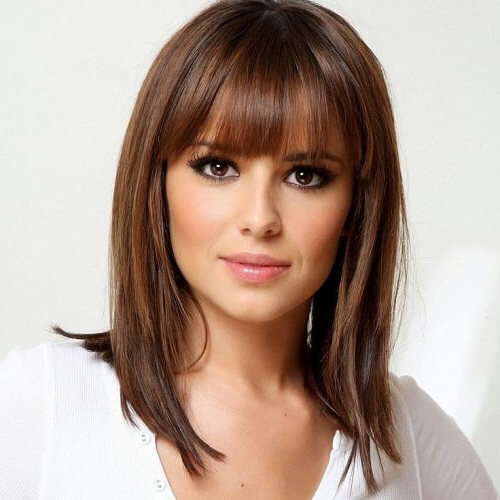 Bring Movement & Flexibility: 50 Haircuts With Bangs For Regarding Medium Length Red Hairstyles With Fringes (View 23 of 25)