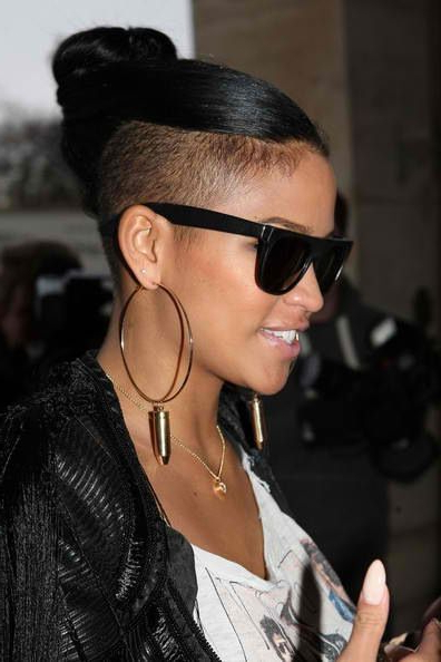 Cassie, Mohawk Brought Into A Ponytail | Half Shaved Hair with Ponytail Mohawk Hairstyles
