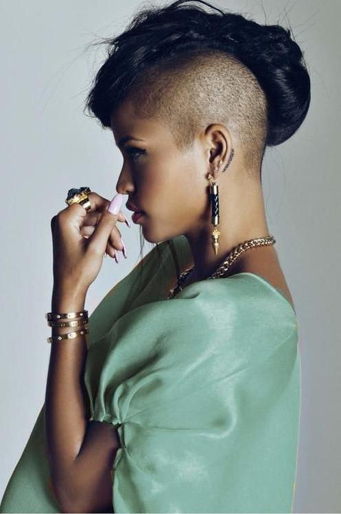 Cassie Ventura | Hair Beauty:__Cat__, Short Hair Styles, Hair pertaining to Cassie Bun Mohawk Hairstyles