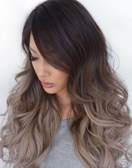 Casual Ash Blonde Ombre- Ideas For Ash Blonde And Silver intended for Ash Bronde Ombre Hairstyles