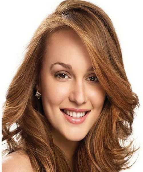 Casual-Wavy-Hairstyles-With-Side-Swept-Bangs-For-Medium inside Straight Hairstyles In Side-Swept Downdo