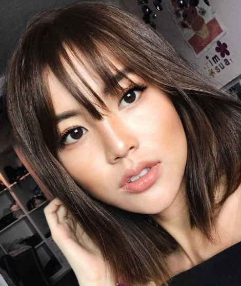 Caught The Eye! In 2019 | Asian Hair, Cool Hairstyles with Eye-Covering Bangs Asian Hairstyles