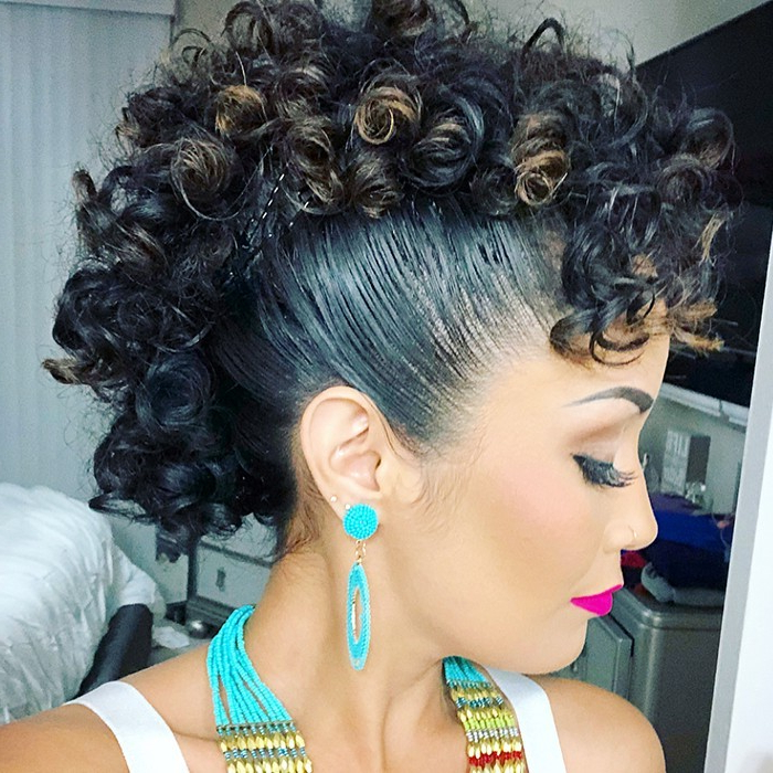 Check Out Our 24 Easy-To-Do Updos, Perfect For Any Occasion inside Elegant Curly Mohawk Updo Hairstyles