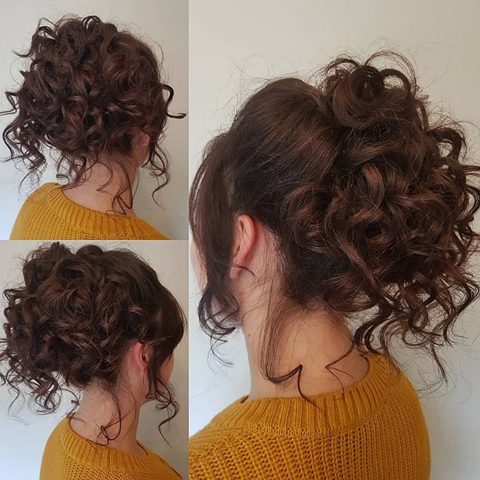 Check Out Our 24 Easy To Do Updos, Perfect For Any Occasion Intended For Messy Updo Hairstyles With Free Curly Ends (View 14 of 25)