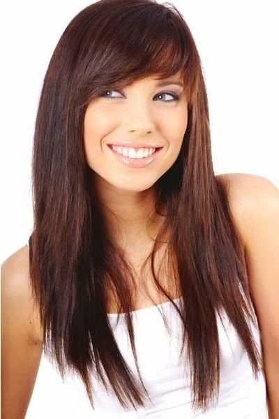 Choppy Side Swept Bangs Haircuts Want To Try This Some for Long Straight Layered Hairstyles With Fringes