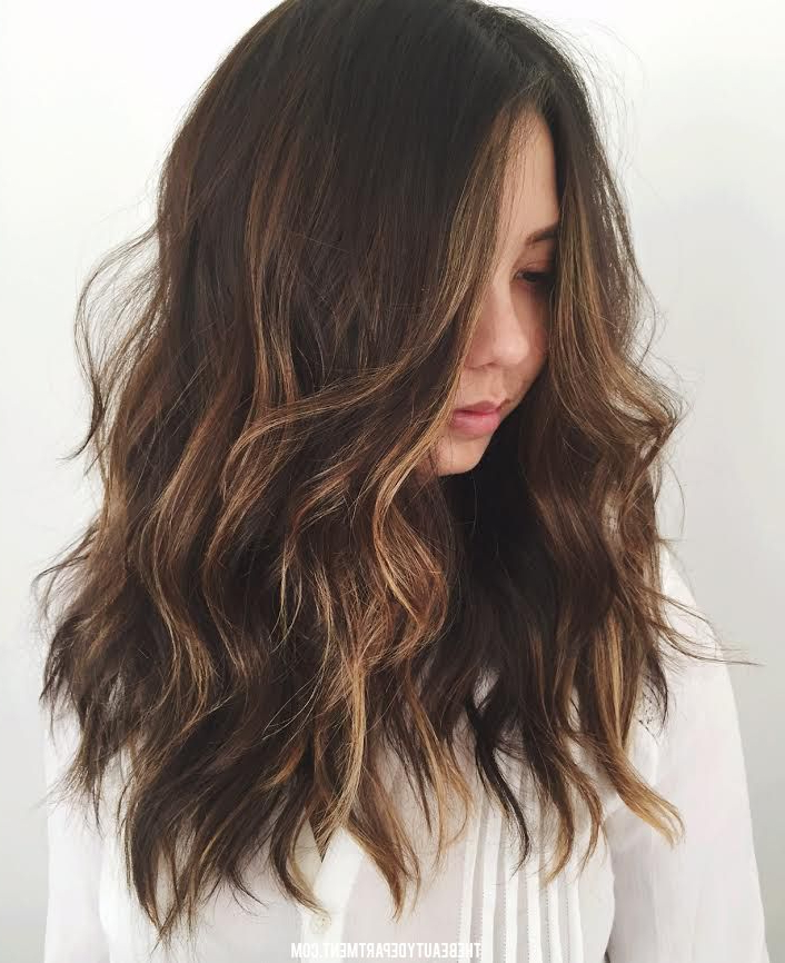 Circle Barrette // Style Idea   Haircuts For Wavy Hair, Long regarding Long Waves Hairstyles With Subtle Highlights