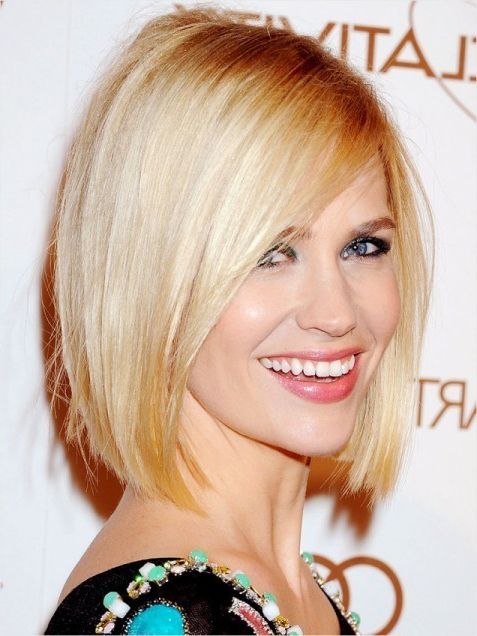 Classic Blunt Bob Hairstyles: Blonde Straight Hair - Popular within Blonde Blunt Haircuts Bob With Bangs