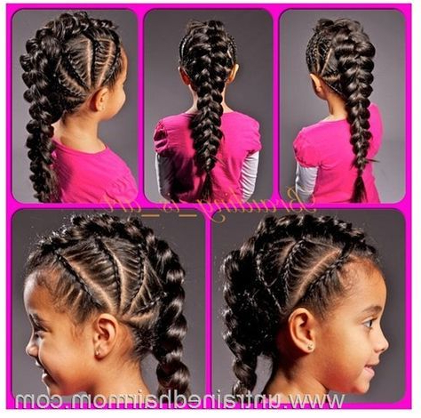 Cornrow The Scalp, One Big Braid For The Rest In 2019 pertaining to Big Braid Mohawk Hairstyles