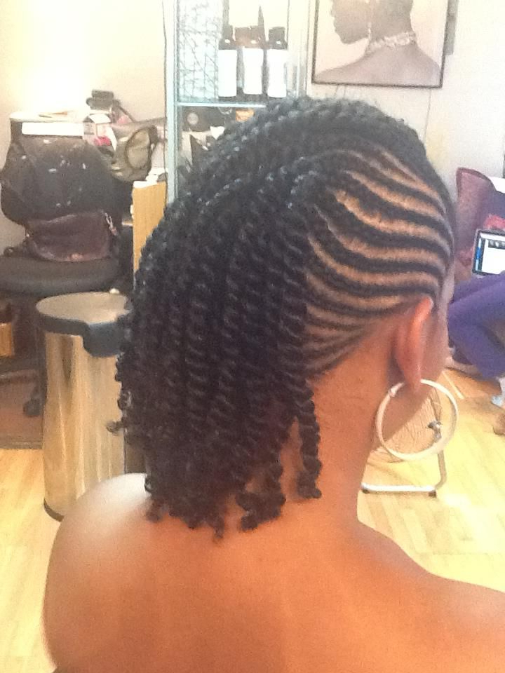 Cornrows Into Two Strand Twists. | Braids For Black Hair intended for Twisted And Braided Mohawk Hairstyles