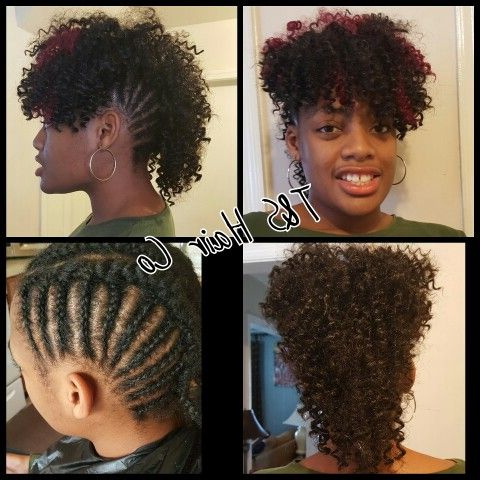 Crochet Braids Mohawk Style | Braided Mohawk Hairstyles inside Faux Mohawk Hairstyles With Natural Tresses