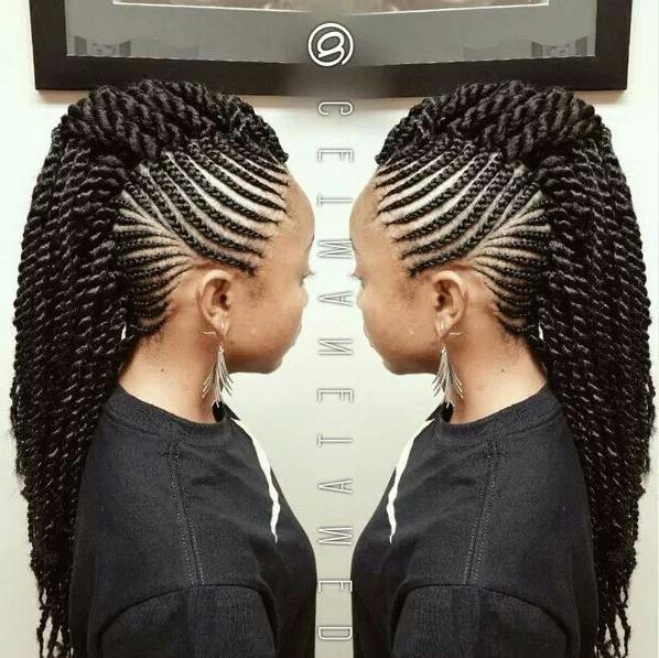 Crochet Mohawk In 2019 | Braided Mohawk Hairstyles, Natural for Twist Braided Mohawk Hairstyles