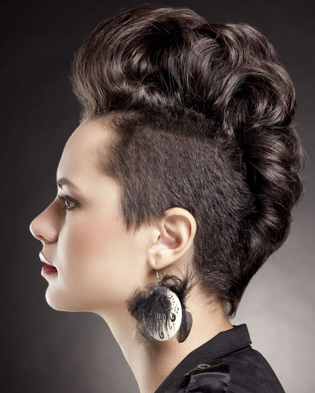 Curly Fashion Chic Mohawk | Mohawk For The Woman | Short regarding Chic And Curly Mohawk Haircuts
