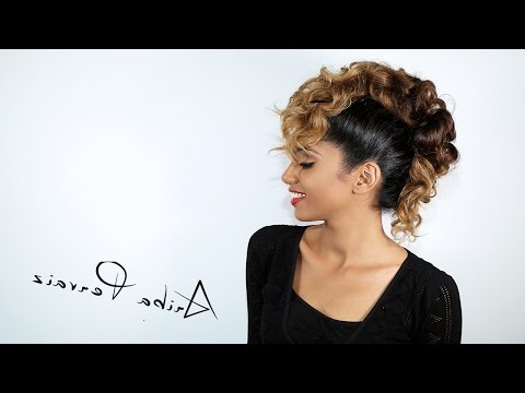 Curly Faux Hawk - Hair Tutorial | Ariba Pervaiz - Youtube for Curly Faux Mohawk Hairstyles